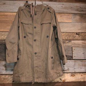 Zara Basics Tan Utility Jacket M